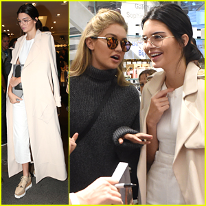 Kendall Jenner & Gigi Hadid Gather A Crowd During Appearance At Colette in Paris