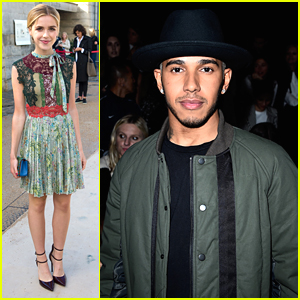 Kiernan Shipka & Lewis Hamilton Hit Up Valentino Show During Paris Fashion Week