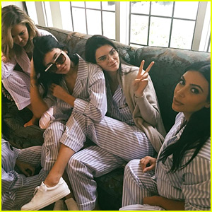 Kim Kardashian & All Her Sisters Celebrate at Her Baby Shower