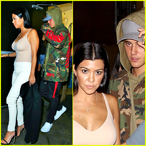 Kourtney Kardashian Leaves the Club with Justin Bieber