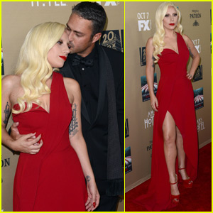 Lady Gaga Gets Support From Fiance Taylor Kinney at 'AHS: Hotel' Premiere