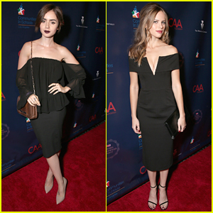 Lily Collins & Halston Sage Party With CAA For Los Angeles Schools