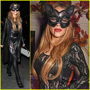 Lindsay Lohan Is Sexy Cat At Asylum Halloween Party!