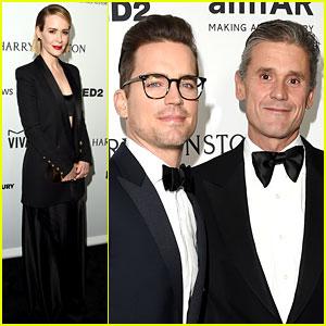 Matt Bomer & Hubby Simon Halls Couple Up at amfAR Gala