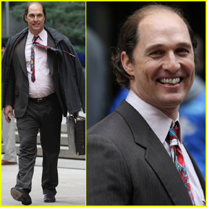 Matthew McConaughey Totally Transforms To Film 'Gold' in NYC