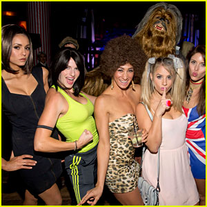 Nina Dobrev Dresses as Posh Spice for Early Halloween Party!