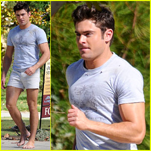 Zac Efron Wears Short Shorts for 'Neighbors 2' Filming!