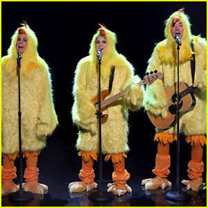 Alanis Morissette Sings Her Hit 'Ironic' with Meghan Trainor & Jimmy Fallon Dressed as Chickens - Watch Now!