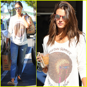 Alessandra Ambrosio Gets Back To Business After Victoria's Secret Fashion Show