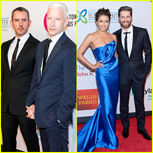 Anderson Cooper & Matthew Morrison Couple Up At Elton John AIDS Fund Benefit 2015!