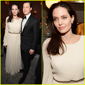 Angelina Jolie Switches It Up for 'By The Sea' After Party with Hubby Brad Pitt!