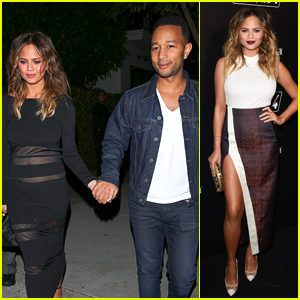 Chrissy Teigen Dresses Up Her Mini Bump For Date Night