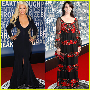 Christina Aguilera Shows Off Her Fabulous Figure at the Breakthrough Prize Ceremony!