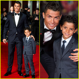 Cristiano Ronaldo Brings His Mini-Me Son Cristiano Jr. to 'Ronaldo' Premiere!