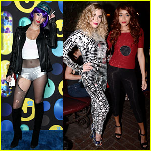Dylan Penn & Ashley Madekwe Bring Grunge & Glam to Just Jared's Halloween Party!
