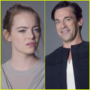 Emma Stone & Jon Hamm's Lost 'Star Wars' Auditions Resurface on 'Saturday Night Live' (Video)