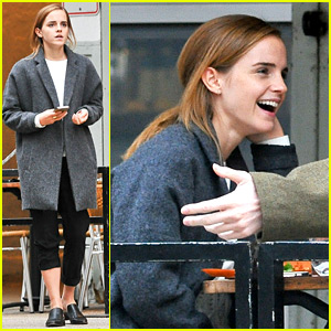 Emma Watson Grabs a Big Apple Lunch with Two Friends