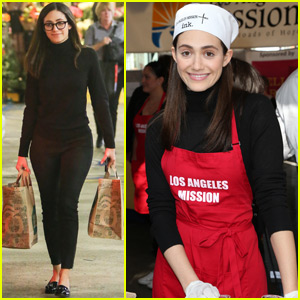 Emmy Rossum Serves Up Thanksgiving Meals to the Homeless