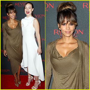 Halle Berry Stuns at Revlon's NYC Event with Olivia Wilde