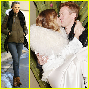 Jaime King & Hubby Kyle Newman Share Kiss at August Getty Atelier Presentation!