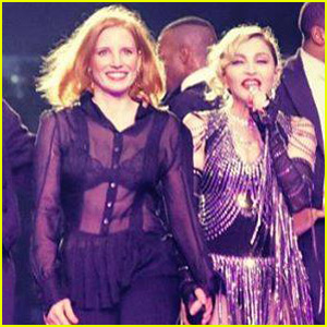 Jessica Chastain Gives Madonna a Spanking on Stage (Video)