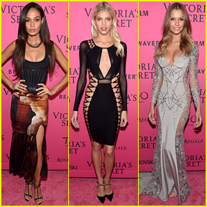 Joan Smalls & Devon Windsor Party After the VS Fashion Show