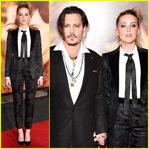 Johnny Depp Supports Amber Heard at 'Danish Girl' Premiere!