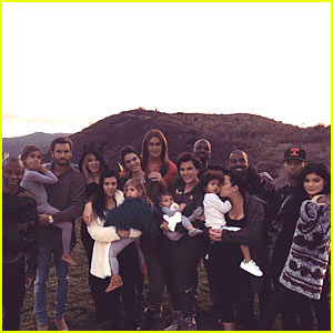 Kardashian Jenner Clan: Thanksgiving Family Photo