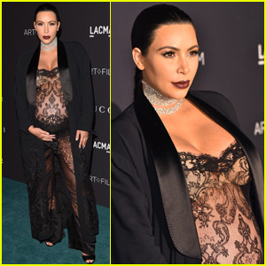 Pregnant Kim Kardashian Wears Completely Sheer Outfit to LACMA Gala