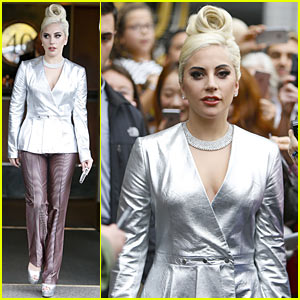 Lady Gaga Steals Her Grammys Back From Her Parents, Dons Alexander Lewis Ensemble