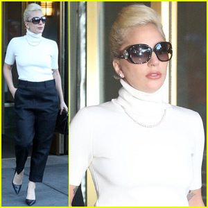 Lady Gaga Goes More Conservative With a Turtleneck in NYC