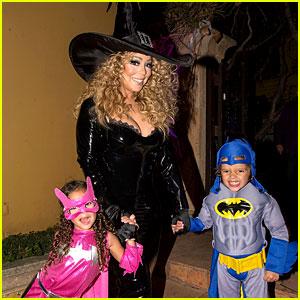 Mariah Carey Celebrates Halloween with Her Superhero Kids!