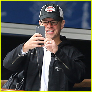 Matt Damon Is a Proud Dad at the Ice Skating Rink