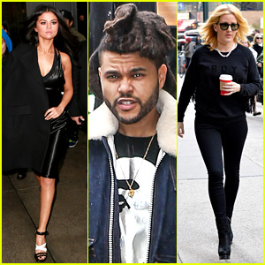 Selena Gomez, The Weeknd, & Ellie Goulding Step Out Before VS Fashion Show!