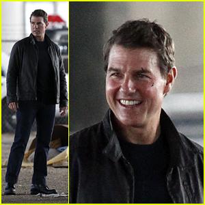Tom Cruise is All Smiles on Set of 'Jack Reacher: Never Go Back'
