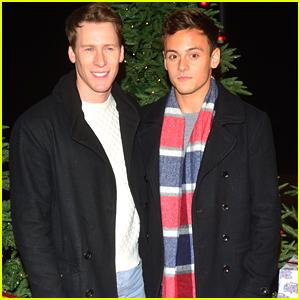 Tom Daley & Dustin Lance Black Make It A 'Winter Wonderland' Date Night