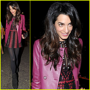 Amal Clooney Looks So Chic For Her Girl's Night!
