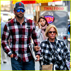 Bradley Cooper & His Mom Gloria Match in Plaid Shirts!