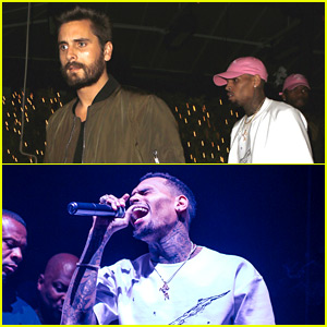 Scott Disick Introduces Chris Brown's Surprise Performance at 1OAK!