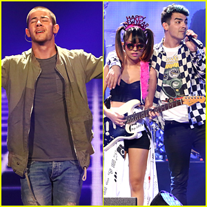 Nick Jonas & DNCE Take Ultimate Group Pic With 5 Seconds of Summer - See It Now!