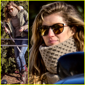 Gisele Bundchen Carries a Hockey Stick in Chilly Boston
