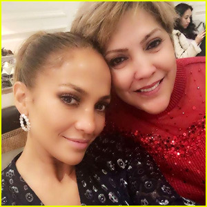 Jennifer Lopez Spends Christmas By Her Mom's Side