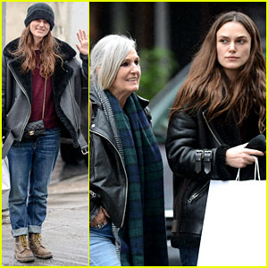 Keira Knightley Goes Christmas Shopping in NYC with Her Mom