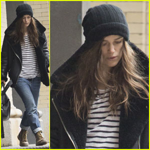 Keira Knightley Loves Her Boyfriend Jeans & Stripes in NYC