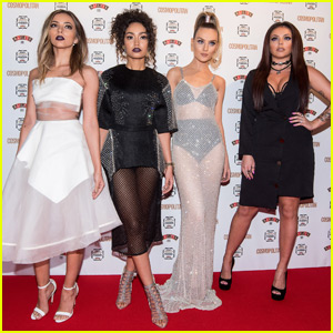 Little Mix's Perrie Edwards Goes Sheer for Cosmopolitan's Women Of The Year Awards 2015