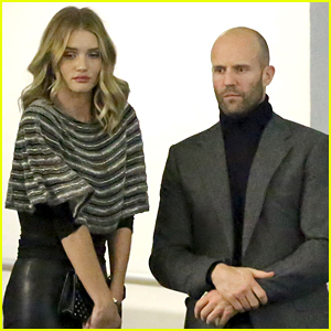 Rosie Huntington-Whiteley & Jason Statham Get Touchy After Dinner