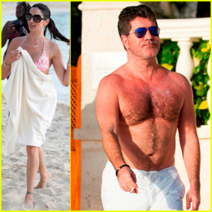 Simon Cowell & Lauren Silverman Cruise the Water on Jet Skis