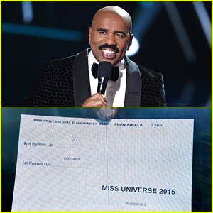 Steve Harvey's Miss Universe Flub: See the Result Card That Had Him Confused