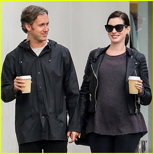 Anne Hathaway Takes Her Baby Bump For a Coffee Run!