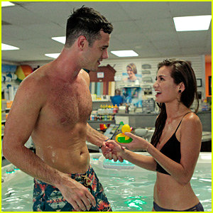 Bachelor Ben Higgins Goes Shirtless in Hot Tub with Kevin Hart